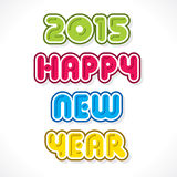 Creative happy new year 2015 design.  Stock Image