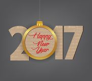 Creative happy new year 2017 design.  vector illustration