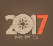 Creative happy new year 2017 design.  Royalty Free Stock Photo