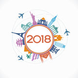 Creative happy new year 2018 design Royalty Free Stock Photo