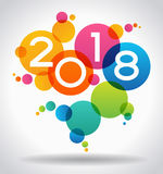 Creative happy new year 2018 design. New Year background.  The file is saved in the version 10 EPS Royalty Free Stock Image
