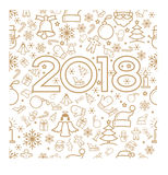 Creative happy new year 2018 design Stock Photography