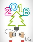 Creative happy new year design Royalty Free Stock Photos