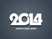Creative happy new year 2014 design. Stock Image