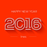 Creative happy new year 2016 design. Flat design Royalty Free Stock Images