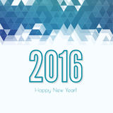 Creative happy new year. 2016 design. Flat design. hollow line with shadow and colored triangles Stock Photography