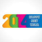 Creative happy new year 2014 design. Stock vector illustration