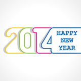 Creative happy new year 2014 design. Stock vector Royalty Free Stock Photo