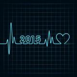 Creative happy new year 2015 design Stock Photo