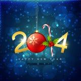 Creative happy new year design. Vector creative 2014 happy new year holiday design stock illustration