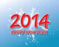 Creative happy new year 2014 design. Royalty Free Stock Photography