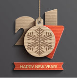 Creative happy new year 2017 design. Vector illustration royalty free illustration