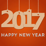 Creative happy new year 2017 design. Vector illustration. Creative happy new year 2017 design. Vector illustration stock illustration