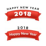 Creative happy new year 2018 design. Vector illustration. Stock Image