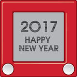 2017 Creative Happy New Year graphic. For Print or Web vector illustration