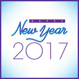 2017 Creative Happy New Year graphic. For Print or Web Stock Illustration