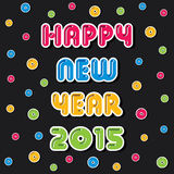 Creative happy new year 2015 greeting design.  Stock Images
