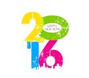 Creative happy new year greeting design.  Royalty Free Stock Photos