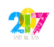Creative happy new year greeting design Royalty Free Stock Photo