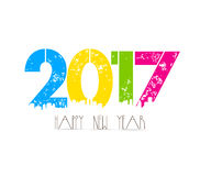 Creative happy new year greeting design.  vector illustration