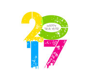 Creative happy new year greeting design.  royalty free illustration