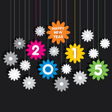 Creative happy new year 2015 greeting design Stock Image