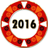 Creative happy new year greeting design plate design Stock Photography