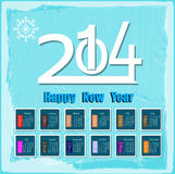 Creative Happy New Year. 2014. Infographic Calendars Royalty Free Stock Photo
