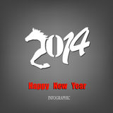 Creative Happy New Year. 2014. Infographic Calendars Stock Photo