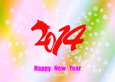 Creative Happy New Year 2014 Royalty Free Stock Photography