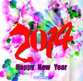 Creative Happy New Year 2014. Infographic Calendars Royalty Free Stock Photo