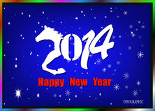 Creative Happy New Year 2014. Infographic Calendars Royalty Free Stock Images