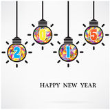 Creative happy new year 2015 text design. Creative happy new year 2015 textdesign. Vector illustration Royalty Free Stock Photos