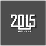Creative happy new year 2015 text design Royalty Free Stock Photography