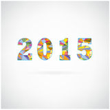 Creative happy new year 2015 text Design Royalty Free Stock Image