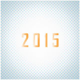 Creative happy new year 2015 text Design. Vector illustration Stock Photography