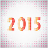 Creative happy new year 2015 text Design. Vector illustration Royalty Free Stock Images