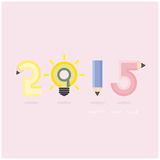 Creative happy new year 2015 text Design. Royalty Free Stock Images
