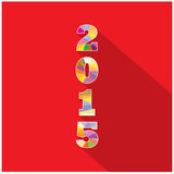 Creative happy new year 2015 text Design. Royalty Free Stock Image