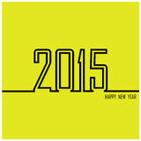 Creative happy new year 2015 text Design. Vector illustration Royalty Free Stock Photography