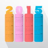 Creative happy new year 2015 text Design Stock Images