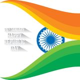 Happy republic day banner Royalty Free Stock Photos