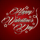 Creative Happy Valentines Day greeting. Stock vector Stock Photography