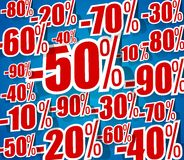 Creative Hard Dicount Sale On Blue Background Royalty Free Stock Photo