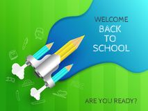 Creative header banner or poster design for Welcome Back to School. Creative header banner or poster design for Welcome Back to School with text of `Are You stock illustration