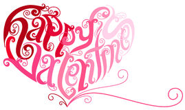 Creative Heart. Vector Illustration of Happy Valentines in Heart shape Stock Images