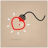 Creative heart Idea concept Stock Photo