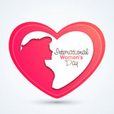 Creative heart for International Women's Day. Royalty Free Stock Photography