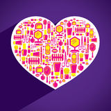 Creative heart shape design Royalty Free Stock Images