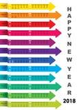 New year 2018 calendar design. Creative heart shape new year 2018 calendar 2018 template design Stock Photos